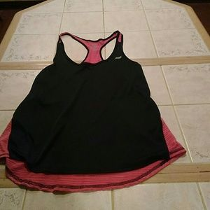 Pink and Black Workout Top